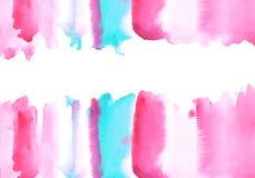 Blått och rosa vattnig illustration Arkivfoton