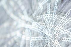 Blått och silver fryste mousserande stjärnor för snövinter blänker bakgrund Ferie jul, abstrakt begrepptextur för nytt år Guld- c arkivfoton