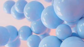 Blått- och vitballong som svävar svängtappgarnering i parti för födelsedagårsdagberöm arkivfilmer