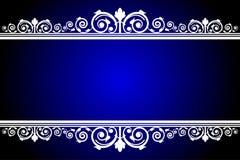 Blått- och vitram stock illustrationer