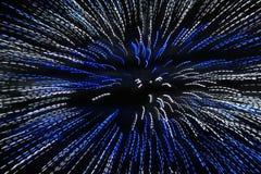 Blått och vitt ljus - färgbakgrundsglöd Arkivfoton