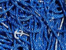 Blått och vitt rep royaltyfria foton