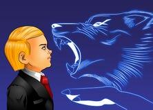 blått oförskräckt stock illustrationer