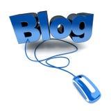 blått online- för blog Royaltyfri Foto
