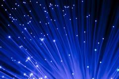 blått optiskt för fibrer Arkivfoto