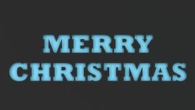 Blått ordsnitt för glad jul i svartpapper Royaltyfri Foto