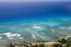 blått paradis Arkivfoto