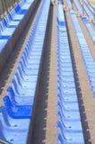 Blått placerar rader Arkivfoto