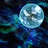 blått planet royaltyfri illustrationer