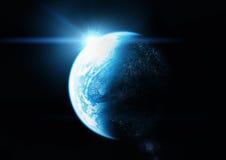 blått planet Arkivbilder