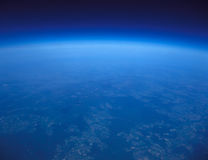 blått planet Royaltyfri Foto