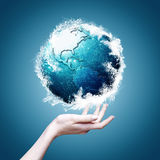 blått planet Royaltyfria Foton