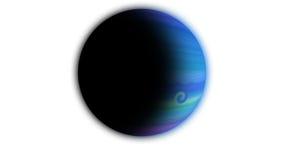 blått planet Arkivbild