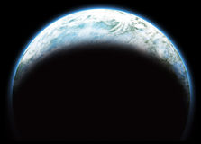 blått planet Arkivfoto