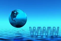 blått planet www Arkivbild