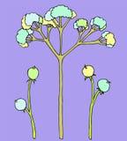 Blått planterar motiv Arkivbilder
