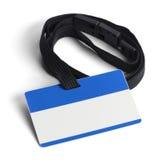 Blått plast- legitimationkort Royaltyfri Fotografi