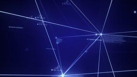 Blått Plexus, bakgrund, teknologi, data, linje, molekylärt som är social, Digital, moln som beräknar, dator, rengöringsduk, telek royaltyfri illustrationer