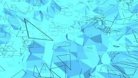 Blått polygonal geometriskt vibrerande miljö eller pulserar vektor illustrationer