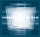 Blått ramtryck Arkivbild