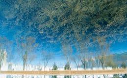 Blått reflexionslandskap Arkivbild
