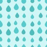 Blått regn tappar den sömlösa modellen stock illustrationer