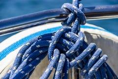 Blått rep för yacht Royaltyfria Foton