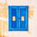 Blått retro fönster Royaltyfria Foton