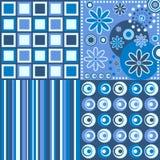 blått retro för bakgrund Arkivbild