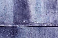 Blått riden ut textur för metallark Arkivfoto