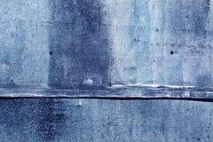 Blått riden ut textur för metallark Royaltyfri Bild
