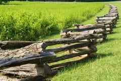 Blått Ridge Parkway, Virginia, USA för ormstångstaket Arkivfoton
