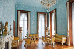 Blått rum av den Vorontsov (Alupka) slotten Royaltyfri Bild