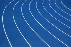 blått running spår Royaltyfri Fotografi