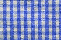 blått rutigt tyg Royaltyfria Foton