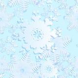 Blått sömlöst för snöflinga Arkivfoton