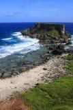 blått saipan hav Arkivbild