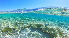 blått sardinia hav Arkivfoton