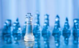 blått schackexponeringsglas Arkivfoto