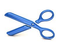 Blått scissors symbol royaltyfri illustrationer