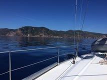 blått seglingvatten Fotografering för Bildbyråer