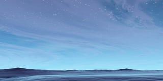 blått skrivbord Fotografering för Bildbyråer