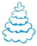Blått snöig träd Royaltyfria Bilder