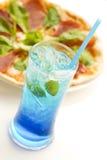 Blått sodavatten Royaltyfri Foto