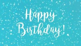 Blått sparkly hälsningkort för lycklig födelsedag royaltyfri illustrationer