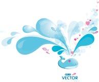 blått sprayval Royaltyfri Foto