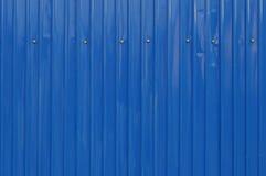 Blått stålark. Royaltyfri Fotografi