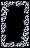 Blått stålsätter virvlar runt inramar royaltyfri bild