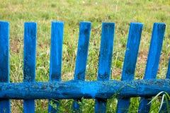 Blått staket Royaltyfria Bilder