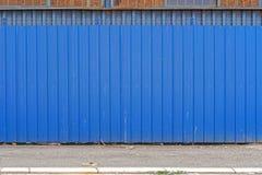 blått staket Arkivfoton